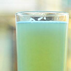 a glass of home made lemonade