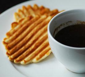 Waffles and Cinnamon Syrup