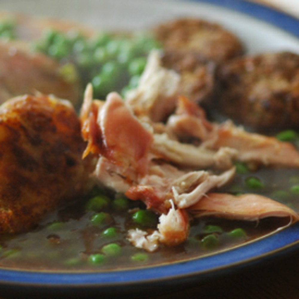 roast chicken lunch. Close up image