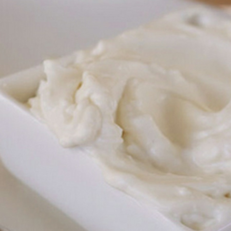 mayonnaise in a small white dish